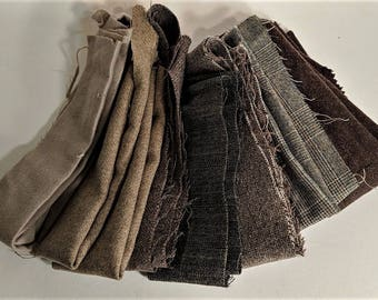 Taupe Wool Collection for Craft Supply Vintage Fabrics