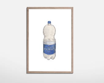 Sparkling Water Illustration print