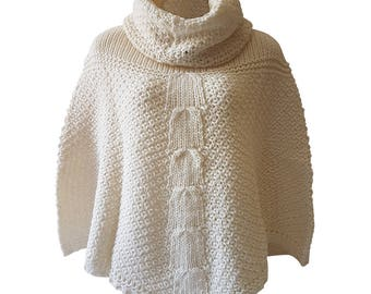 Hand Knit Poncho- Made in Italy