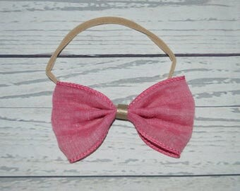 preppy bow with leather