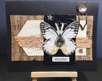 Handmade Butterfly card