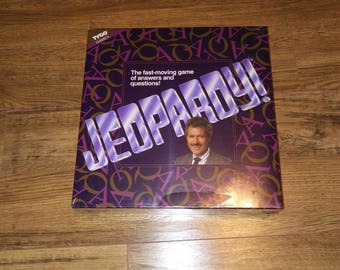 Vintage 1992 JEOPARDY Board Game by Tyco [Factory Sealed