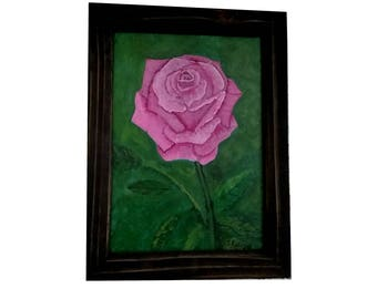 Rose with a frame