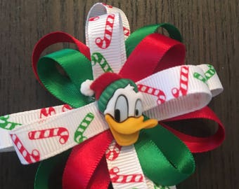 Donald Duck Christmas Bow
