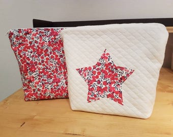 Makeup Bag / / toiletry bag or Keychain / / liberty Kit