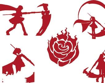Rwby Ruby Rose Decals
