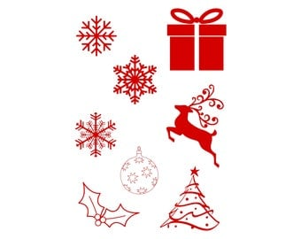 snowflake svg, christmas svg bundle, reindeer svg, ornament svg, winter svg, christmas clipart, cricut cut files, silhouette, vector