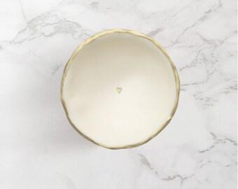 Handmade Golden ringdish ' A Little Love '