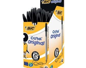 Bic Cristal Original Ball Point Pens - Black Ink - Box Of 50 (8373632)