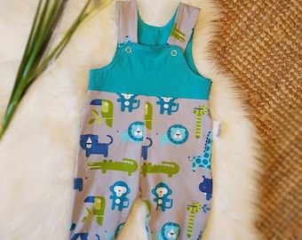 """Baby dungarees """"Small Zoo Animals"""" Gr. 62"""