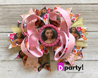 Moana Hair Bow, Baby Moana Hair Bow, Moana Headband, Moana Hair Clip, Moana Hairbow,Moana Headpiece, Moana Birthday Outfit