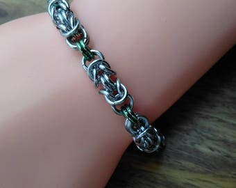 Linked Byzantine Weave Bracelet