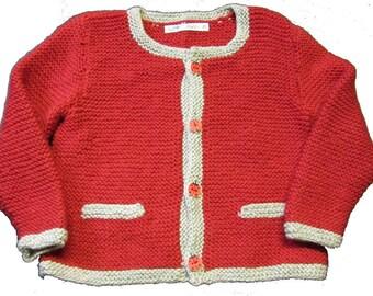 "Hand knitted Janker ""Ladybug"""