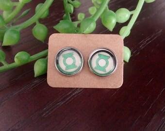 Green Lantern 12mm Stud Earrings