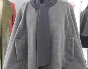 Women's latest fashion cloak with foulard closure