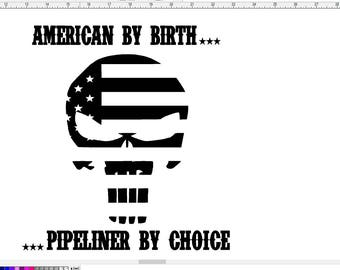 Pipeliner by choice window decal sticker
