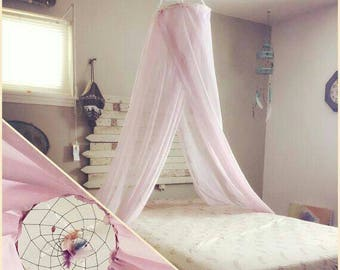 Dream catcher bed canopy, dreamcatcher decor, nursery decor, dreamcatcher canopy, kids play tent reading nook, wedding, baptism decor