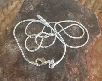 """20"""" silver plated snake chain"""