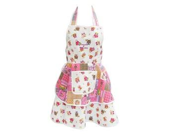 """Owls"" Judy apron"