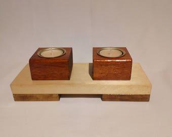 2 piece Tea light candle holder