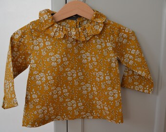 Mustard blouse liberty capel 1 month to 4t