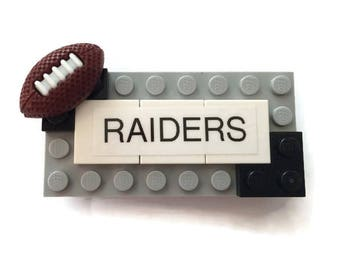 Raiders LEGO Name Tag