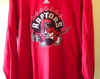 Men's Adidas Long Sleeve Toronto Raptors Tshirt