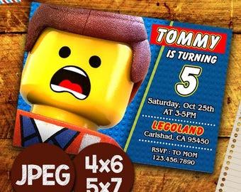 Lego Invitation, Lego Birthday Invitation, Lego Invitations Birthday, Lego Invite, Lego Invitation Cards, Lego Birthday Printable