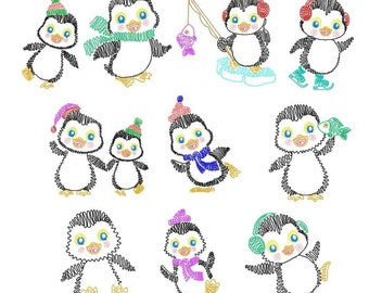 Squiggly Penguins  BD 577