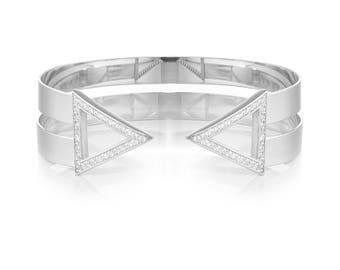 Silver 925 Triangle Bangle