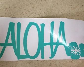 Aloha Vinyl Decal