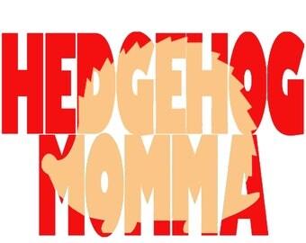 Hedgehog Momma, decal hedgehog decals, hedgehog stickers, hedgie decals, hedgehog gift, hedge hog mom, hedgehog gifts, hedge hog, decor