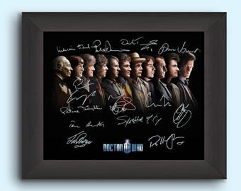 DR WHO TV Show Cast Signed (Pre-Printed) 8x10 Photo - Signed by all 11 Doctors