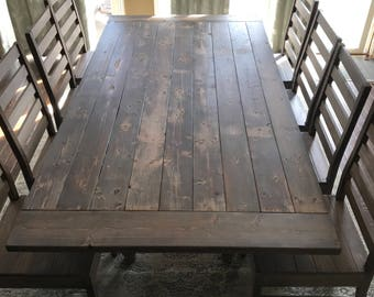 Farm Table Set with Chairs