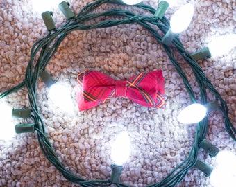 Pet Christmas Bowtie/Double Bowtie/Cat Bowtie/Dog Bowtie/Plaid Bowtie