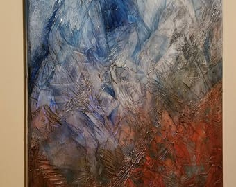 Shard-Hand-painted Acrylic Painting by David Hilborn (highly textured)