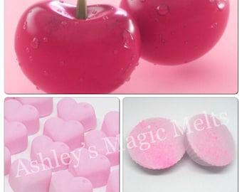 3 cherry wax melts, soy wax melts, strong wax melts, highly scented wax melts, cheap wax melts, fruity wax melts, wax tart melts