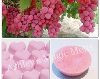 3 pink grape fruit scented wax melts, fruity melts, cheap wax melts, wax tart melts, scented wax, strong wax melts, food wax melts