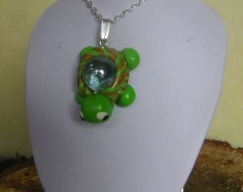 Turtle pendant with ball