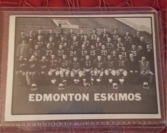 1961 Topps CFL # 43 Edmonton Eskimos Team CARD! NM!Combin.shipping
