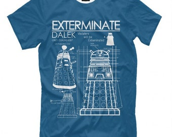 Doctor Who Exterminate Dalek T-Shirt All Sizes XS-6XL