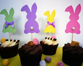 Easter Bunny Cupcake Toppers 8pk