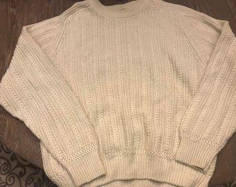 St John's Bay VINTAGE cream sweater