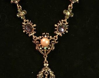Crystal opal pendant necklace