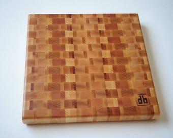 Mixed Hardwood End Grain Cutting Board