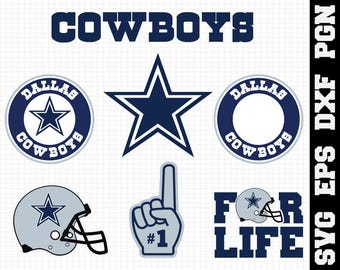 Dallas Cowboys Nfl,SVG File-png ,dxf,ep ,nfl svg,SVG File for Cameo,Cricut & other electronic cutters Silhouette Cut Files,Cricut Cut Files