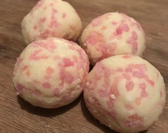 Strawberry Rhubarb Cocoa Butter Bath Truffles (sold individually)
