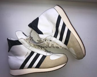 Rare 1980s Vintage Adidas Adimed Training H Sneakers Made in West Germany UK6