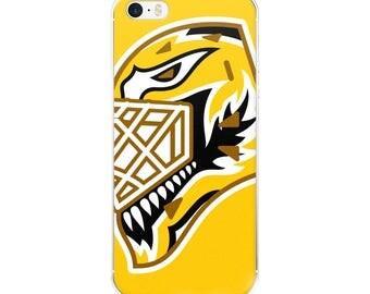 "Yellow ""92"" Goalie Mask iPhone Case"