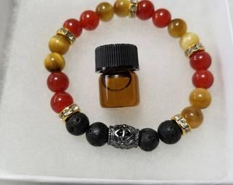 Essential Oil Diffuser Bracelet, Lava Bead Bracelet, Lava Beads, Diffuser Bracelet, Aromatherapy, Free Essential Oil Sample